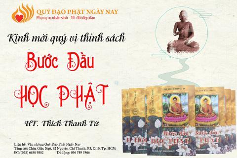 """Ấn Tống Sách """"Bước Đầu Học Phật"""" (C159)"""
