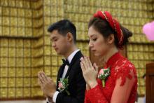 Chùa Giác Ngộ: Lễ hằng thuận của Phật tử Minh Định và Thiên Kim
