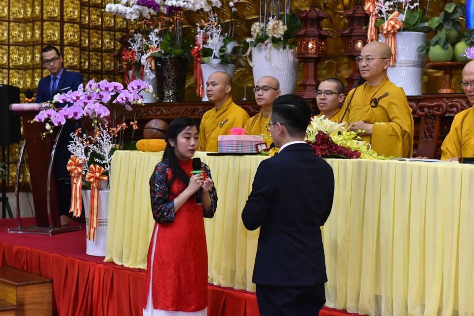 Lễ Hằng Thuận của cô dâu Thùy Anh & chú rể Quang Huy tại chùa Giác Ngộ, lúc 15h00, ngày 18-09-2018.
